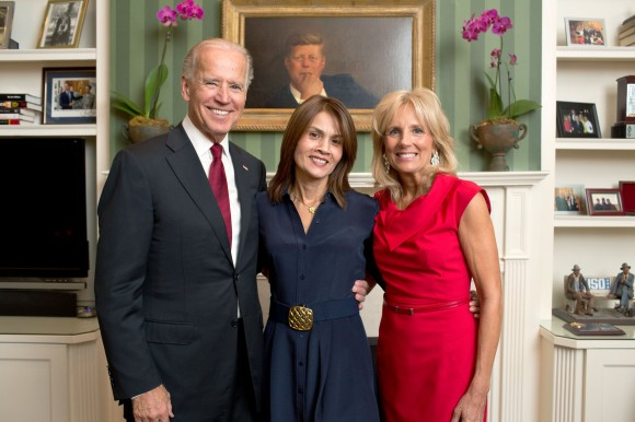 Mom and the Bidens