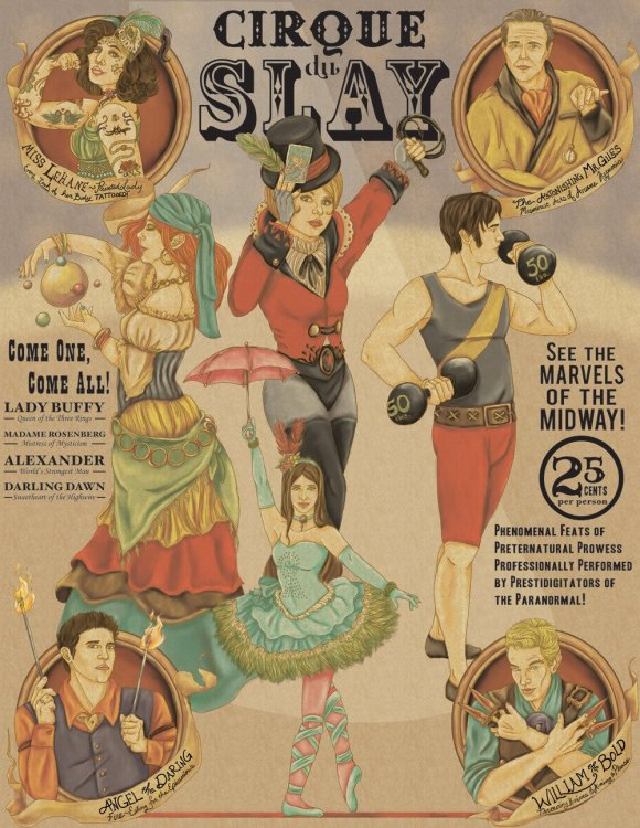 Awesome Buffy Circus Poster