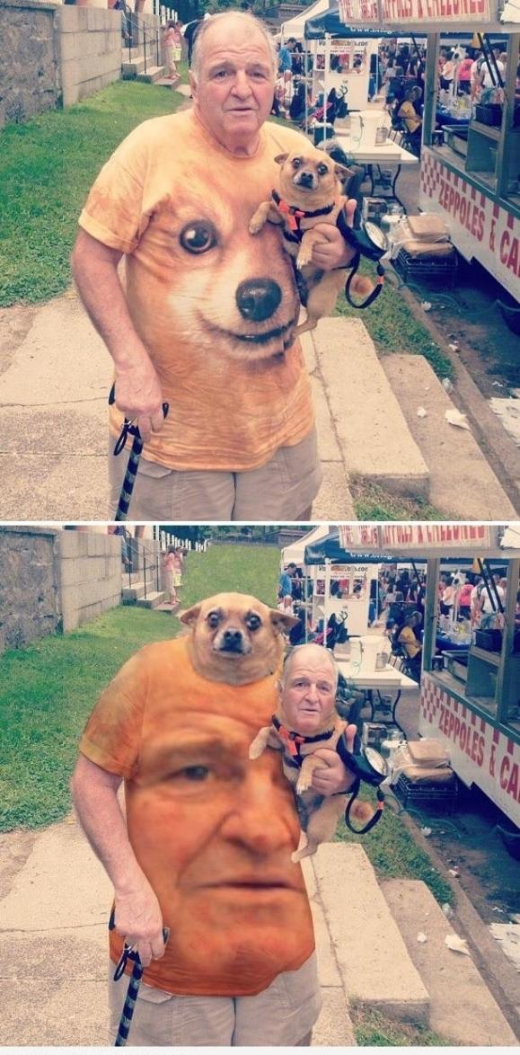 Dog/Man Headswap