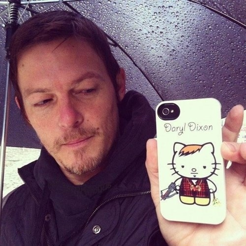 Norman Reedus Loves Hello Kitty