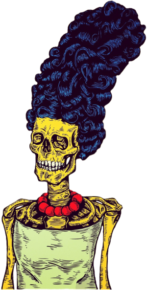 Marge Simpson Skeleton
