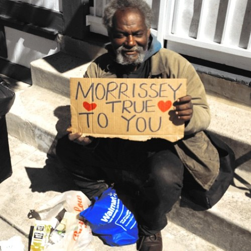 Homeless Man Quoting Morrissey