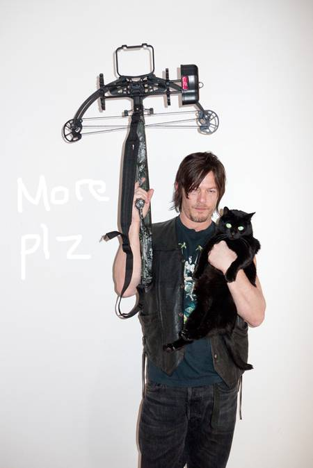 Norman Reedus, Plus Crossbow, Plus Cat