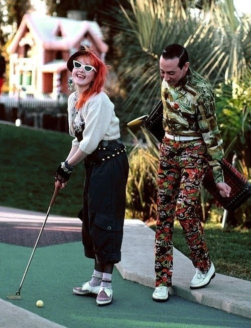 Cyndi Lauper and Pee Wee Herman